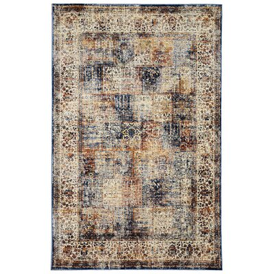 Rosana Ivory/Brown Area Rug Rug Size: Runner 111 x 74