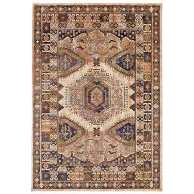 Rosana Beige/Brown Area Rug Rug Size: Runner 111 x 74