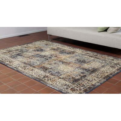 Rosana Ivory/Brown Area Rug Rug Size: 410 x 76