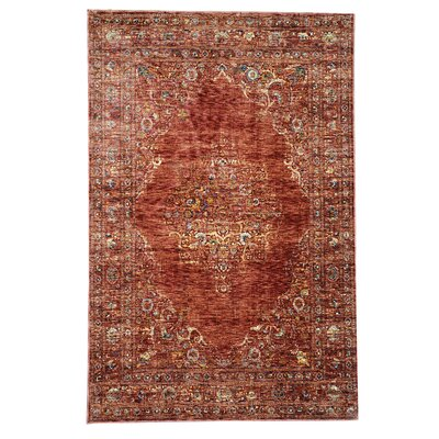 Rosana Red Area Rug Rug Size: 111 x 33