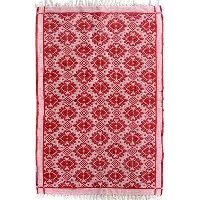 Rosalina Hand Woven Red/Pink Area Rug Rug Size: Rectangle 310 x  510