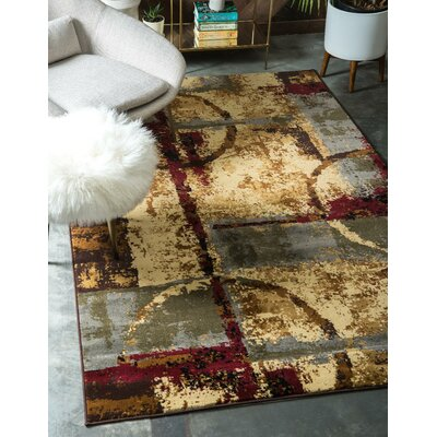 Jaidan Brown/Beige Abstract Area Rug Rug Size: Rectangle 22 x 3