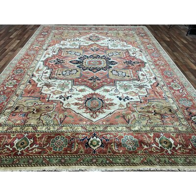 Roselle Hand Woven Wool Orange/Beige Area Rug Rug SIze: Rectangle 99 x 14