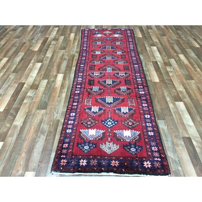 One-of-a-Kind Salins Hamadan Oriental Hand Woven Red Area Rug