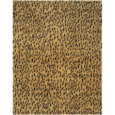 Dorthy Yellow/Black Area Rug Rug Size: Rectangle 76 x 96