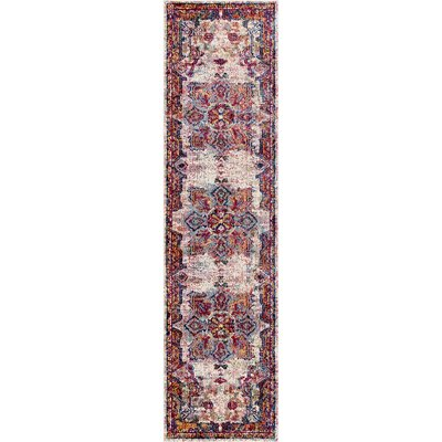 Valkenburg Orange/Beige Area Rug Rug Size: Runner 2 x 8