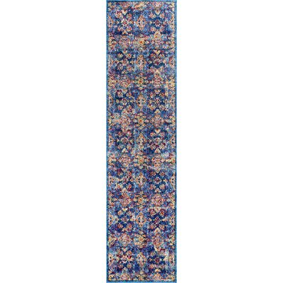 Valkenswaard Blue/Red Area Rug Rug Size: Runner 2 x 8