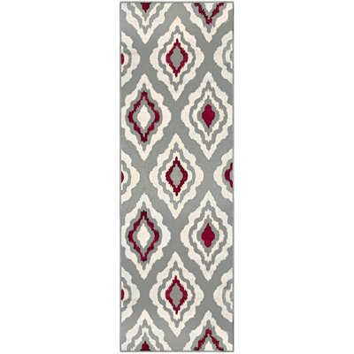 Goshen Diamond Gray Area Rug Rug Size: Runner 27 x 8