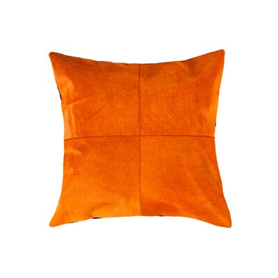 Graham Plain Throw Pillow Color: Orange