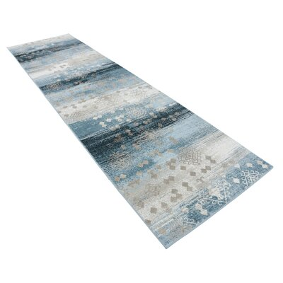 Hanner Dark Blue Area Rug Rug Size: Runner 3 x 10