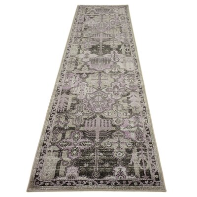 Irma Purple Area Rug Rug Size: Runner 27 x 10