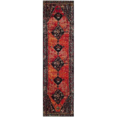 Rangel Orange Area Rug Rug Size: Runner 22 x 10