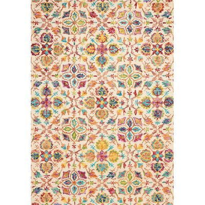 Zosia Hand Tufted Wool Ivory Area Rug Rug Size: Rectangle 66 x 96