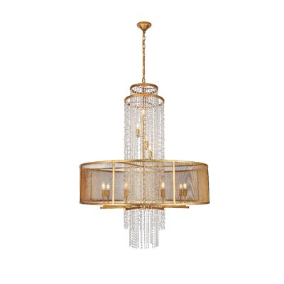 West Vero 12-Light Drum Chandelier Finish: Golden