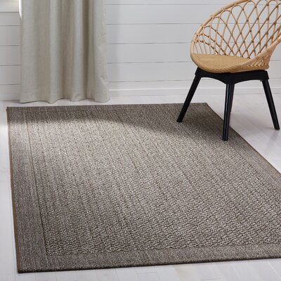 Leavenworth Brown Area Rug Rug Size: Rectangle 5 x 8