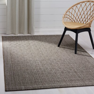 Leavenworth Basketry Brown Area Rug Rug Size: Rectangle 5 x 8