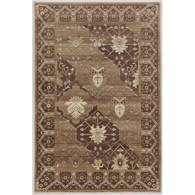 Ateao Gray/Beige Area Rug Rug Size: Rectangle 8 x 10