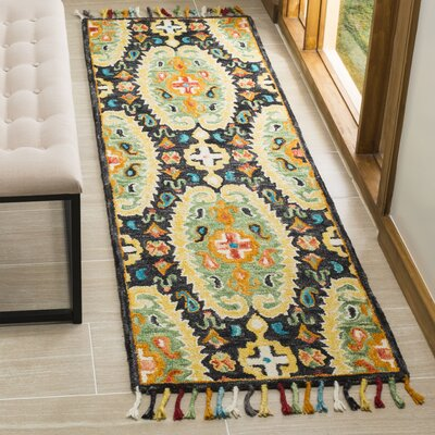 Elford Hand-Tufted Wool Charcoal Area Rug Rug Size: Rectangle 23 x 8