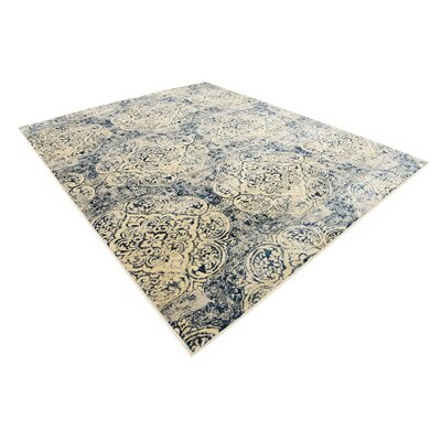Jani Beige/Blue Abstract Area Rug Rug Size: Rectangle 8 x 10