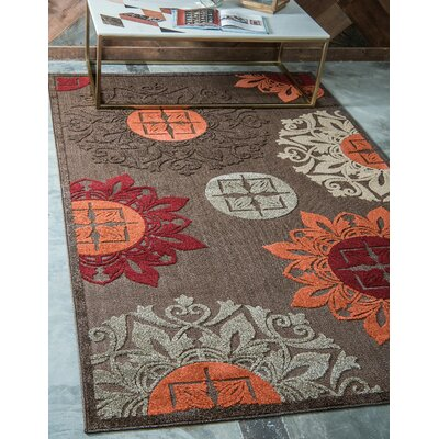 Jessica Brown Indoor/Outdoor Area Rug Rug Size: Rectangle 7 x 10