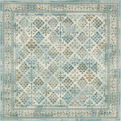 Hurst Blue Area Rug Rug Size: Square 6