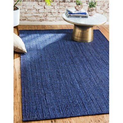 Chapell Hand-Braided Navy Blue Area Rug Rug Size: Rectangle 2 x 3