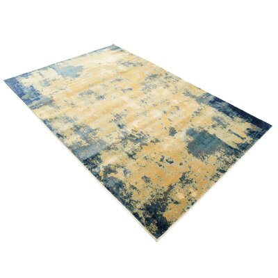 Jani Beige/Blue Area Rug Rug Size: Rectangle 4 x 6
