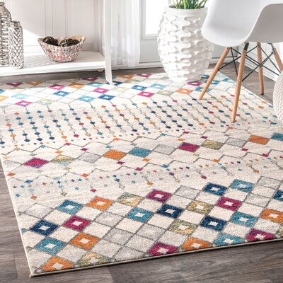 Marysville Beige/Brown Area Rug Rug Size: Rectangle 8 x 10