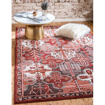 Irma Terracotta Area Rug Rug Size: Rectangle 5 x 8
