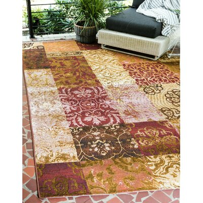 Jamie Gold Indoor/Outdoor Area Rug Rug Size: Rectangle 53 x 8