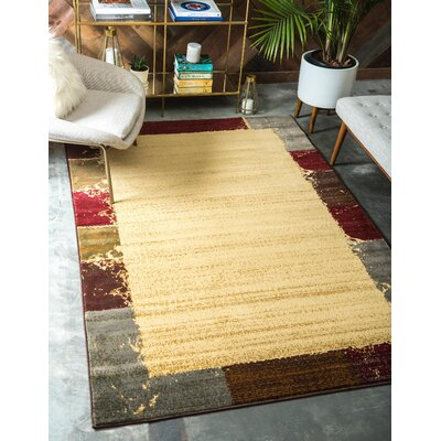 Jaidan Cream Area Rug Rug Size: Rectangle 5 x 8
