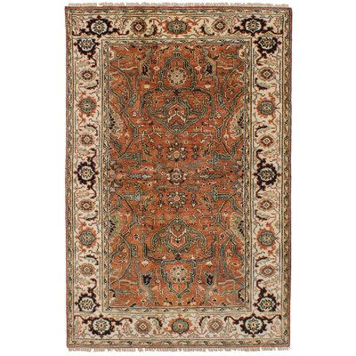 Lenita Hand-Knotted 100% Wool Dark Copper Oriental Indoor Area Rug Rug Size: Rectangle 50 x 711