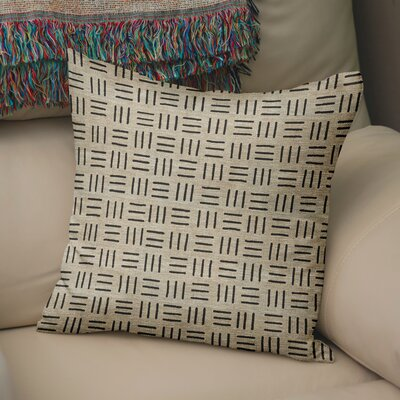 Bemelle Mud Cloth Square Throw Pillow Size: 24 H x 24 W, Color: Taupe/ Black