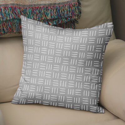 Bemelle Mud Cloth Square Throw Pillow Size: 18 H x 18 W, Color: Grey/ Ivory