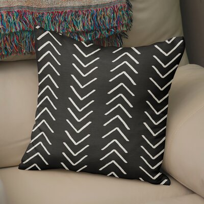 Bemelle Mud Cloth Throw Pillow with Double Sided Print Size: 24 H x 24 W, Color: Black/ Ivory