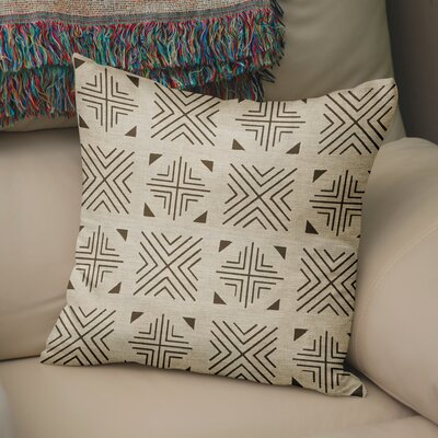 Bemelle Mud Cloth Throw Pillow Size: 18 H x 18 W, Color: Taupe/ Brown
