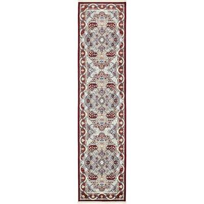 Amrane Burgundy/Tan Area Rug Rug Size: Runner 3 x 13