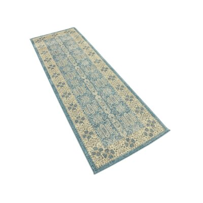 Brierfield Blue/Brown Area Rug Rug Size: Rectangle 2 x 6