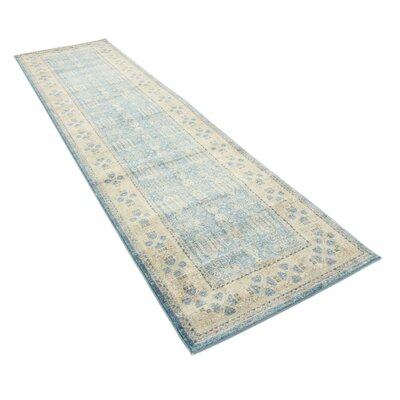 Brierfield Blue/Brown Area Rug Rug Size: Runner 27 x 10