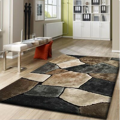 Nakia Handmade Brown/Gray Indoor Area Rug