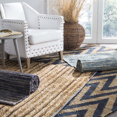 Catalano Hand-Woven Blue Area Rug Rug Size: Rectangle 4 x 6