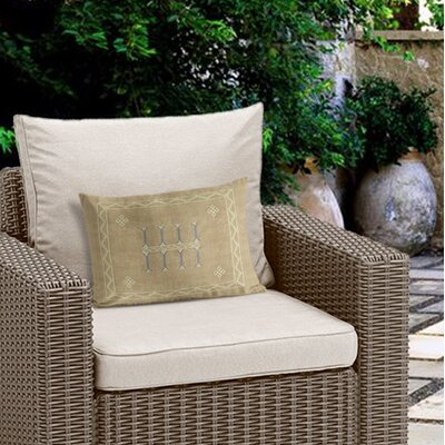 Cristo Outdoor Lumbar Pillow Color: Tan