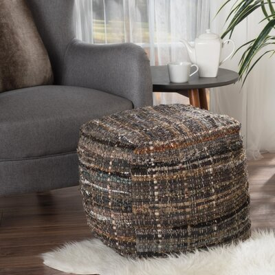 Wilkins Pouf Upholstery: Khaki