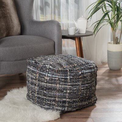 Wilkins Pouf Upholstery: Gray/Blue