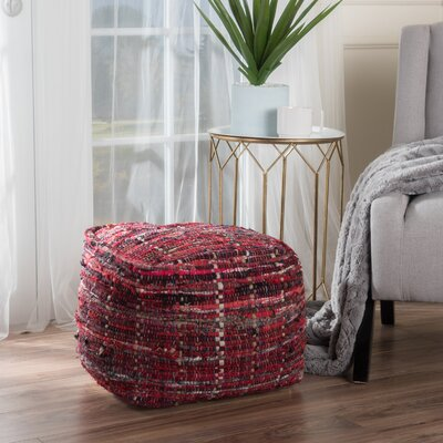 Wilkins Pouf Upholstery: Red