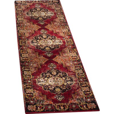 Fitzpatrick Red Area Rug Rug Size: Rectangle 22 x 4