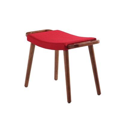 Kremer Ottoman Upholstery: Red