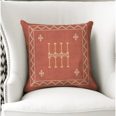 Cristo Accent Throw Pillow Color: Rust/ Orange, Size: 24 x 24