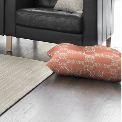 Edlin Tangerine Outdoor Floor Pillow Size: 26 x 26