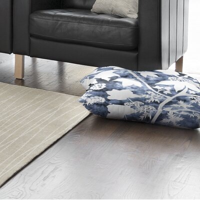 Arin Floral Square Floor Pillow Size: 26 H x 26 W